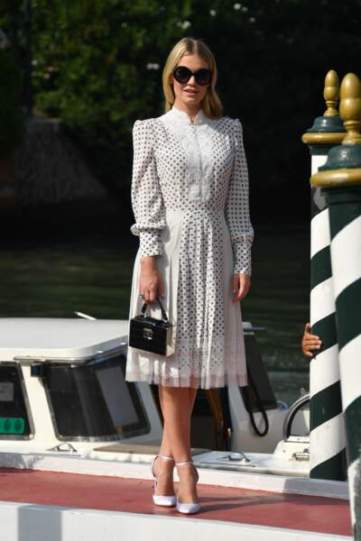 Lady Kitty Spencer à la Mostra de Venise le 28 août 2019