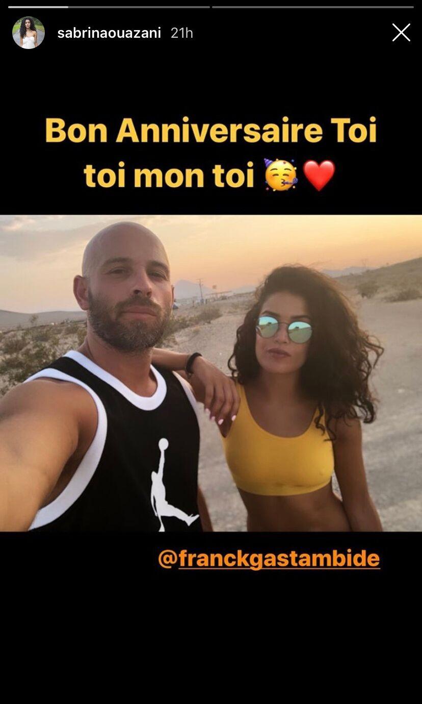 Sabrina Ouazani souhaite un bon anniversaire à son chéri Franck Gastambide, le 31 octobre 2019.