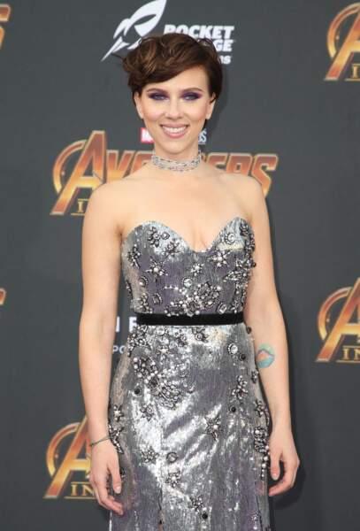 Le court volumineux de Scarlett Johansson