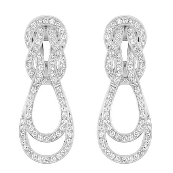 Boucles d'oreilles 8°0, en or blanc et diamants blancs, FRED, prix sur demande.