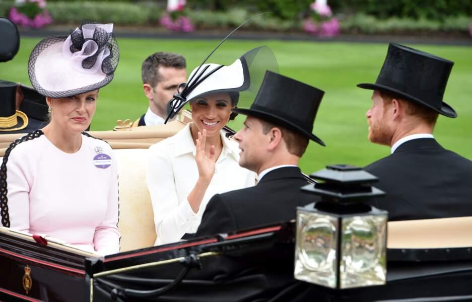 La comtesse Sophie de Wessex portait en Juin 2018 une robe rose de la créatrice Emilia Wickstead, adorée de Kate Middleton.