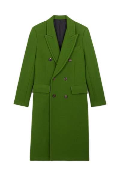 Manteau en laine, 820 €, Ami.