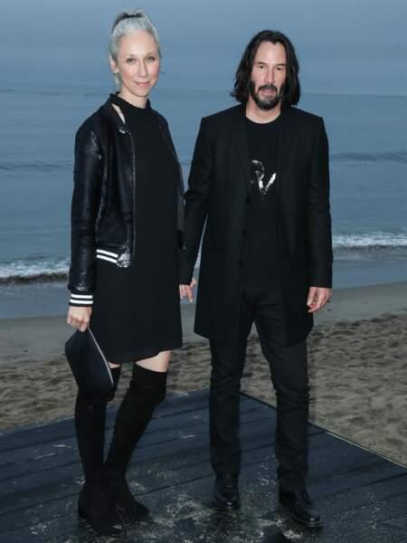 Keanu Reeves et sa compagne étaient déjà apparus ensemble lors du défilé Saint Laurent à Malibu en juin dernier