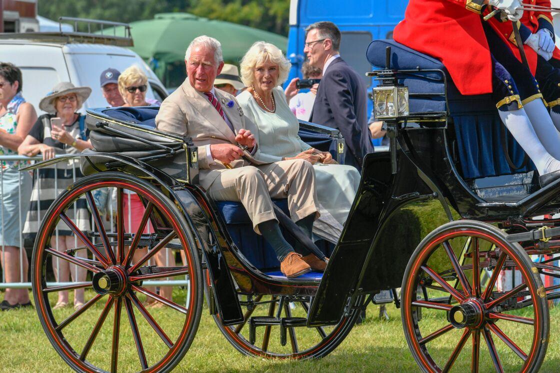 Le prince Charles et sa femme Camilla à Sandringham, le 24 juillet 2019.