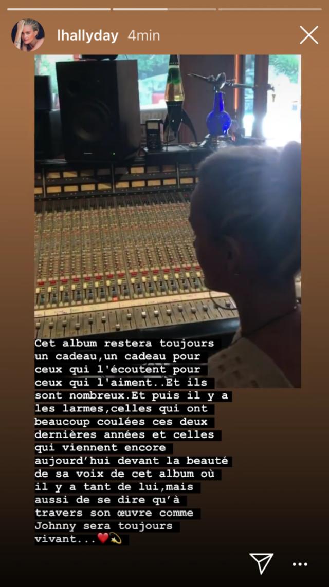 Laeticia Hallyday en Insta Story, ce 6 novembre 2019.