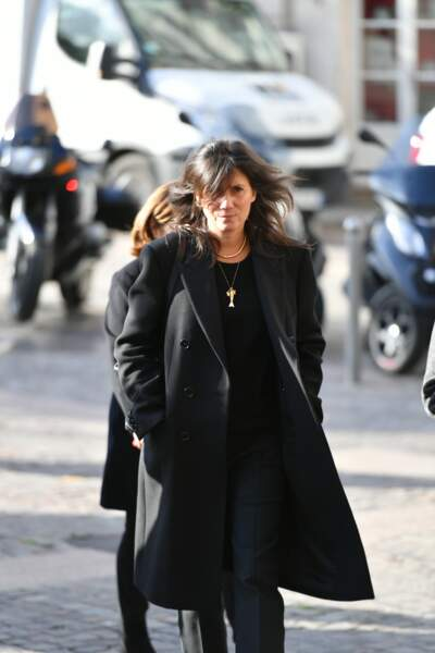 Emmanuelle Alt aux obsèques de Marie Laforêt en l'église Saint-Eustache à Paris, le 7 novembre 2019.