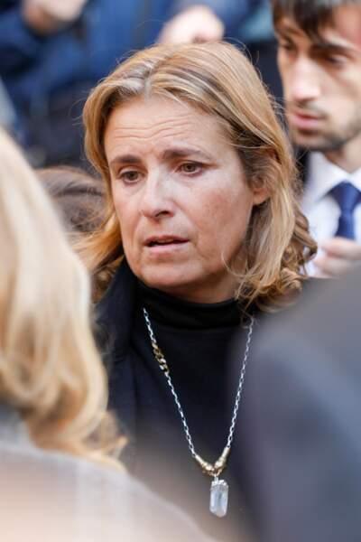 Lisa Azuelos aux obsèques de Marie Laforêt en l'église Saint-Eustache à Paris