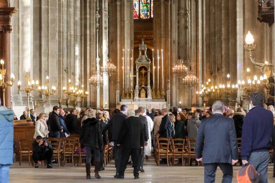 Les obsèques de Marie Laforêt en l'église Saint-Eustache à Paris, le 7 novembre 2019.