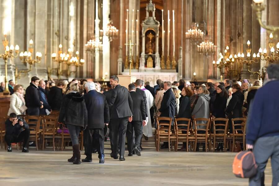L'église Saint-Eustache à Paris, où se tiennent les obsèques de Marie Laforêt, le 7 novembre 2019.