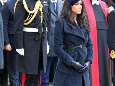 PHOTOS - Meghan Markle recueillie et sobre,  pour sa première sortie avec le prince Harry pour honorer l'armistice