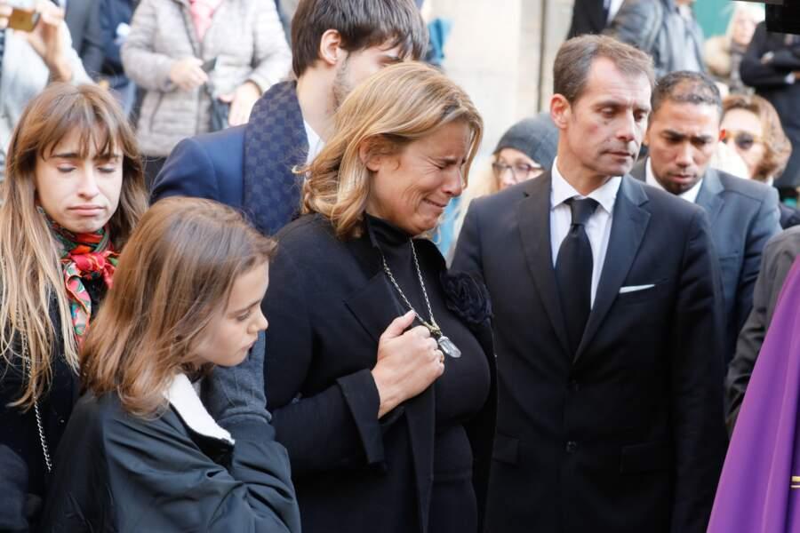 La réalisatrice Lisa Azuelos, très touchée aux obsèques de Marie Laforêt