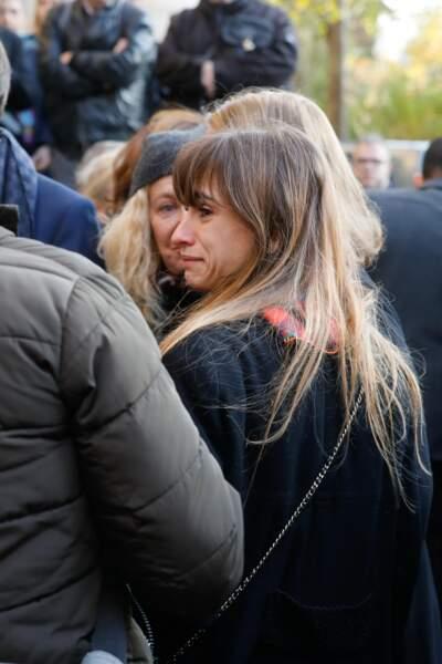 Thaïs Alessandrin aux obsèques de sa grand-mère, Marie Laforêt, en l'église Saint-Eustache à Paris