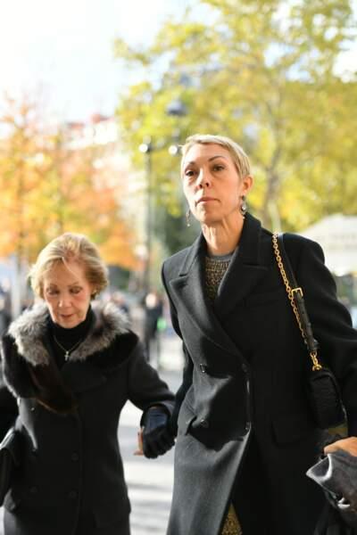 Victoire de Castillane et Mathilde Favier aux obsèques de Marie Laforêt en l'église Saint-Eustache à Paris, le 7 novembre 2019.
