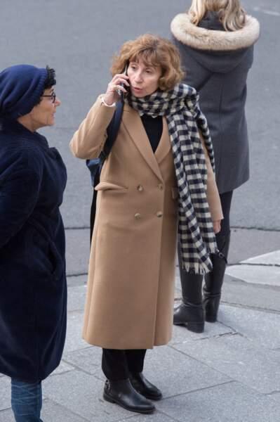 La comédienne Ariane Ascaride aux obsèques de Pascale Roberts vendredi 8 novembre 2019