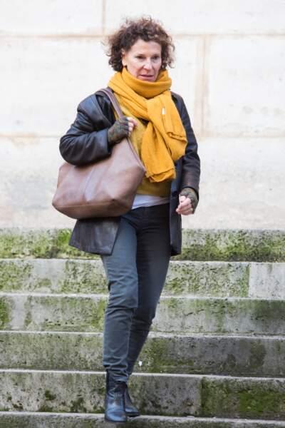 Sylvie Flepp aux obsèques de Pascale Roberts vendredi 8 novembre 2019