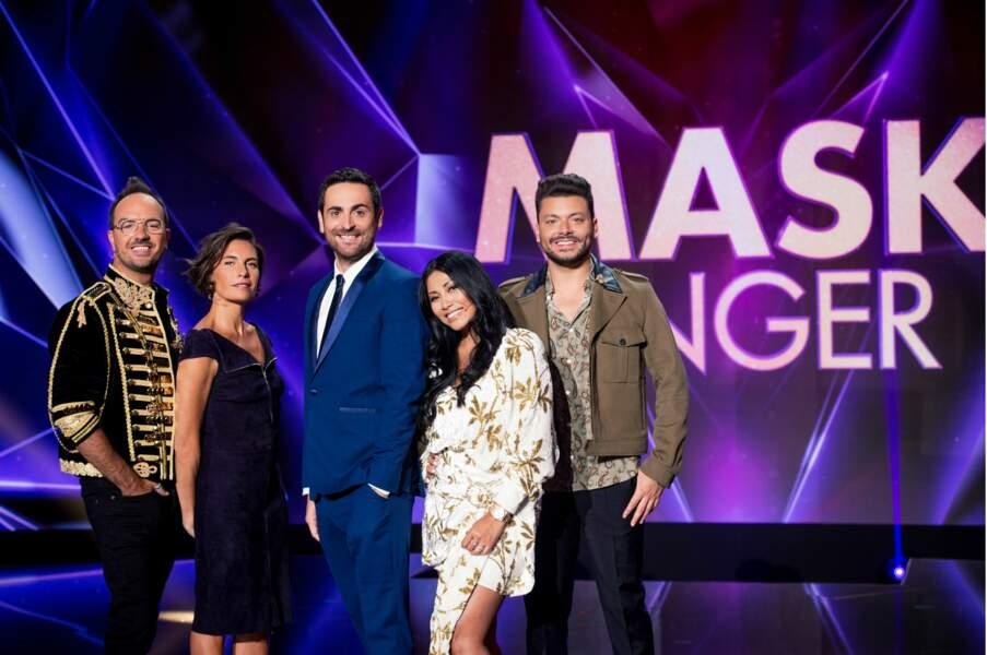 Alessandra Sublet, Kev Adams, Jarry et Anggun tenteront de découvrir qui sont les personnalités de Mask Singer, tandis que Camille Combal présentera le show