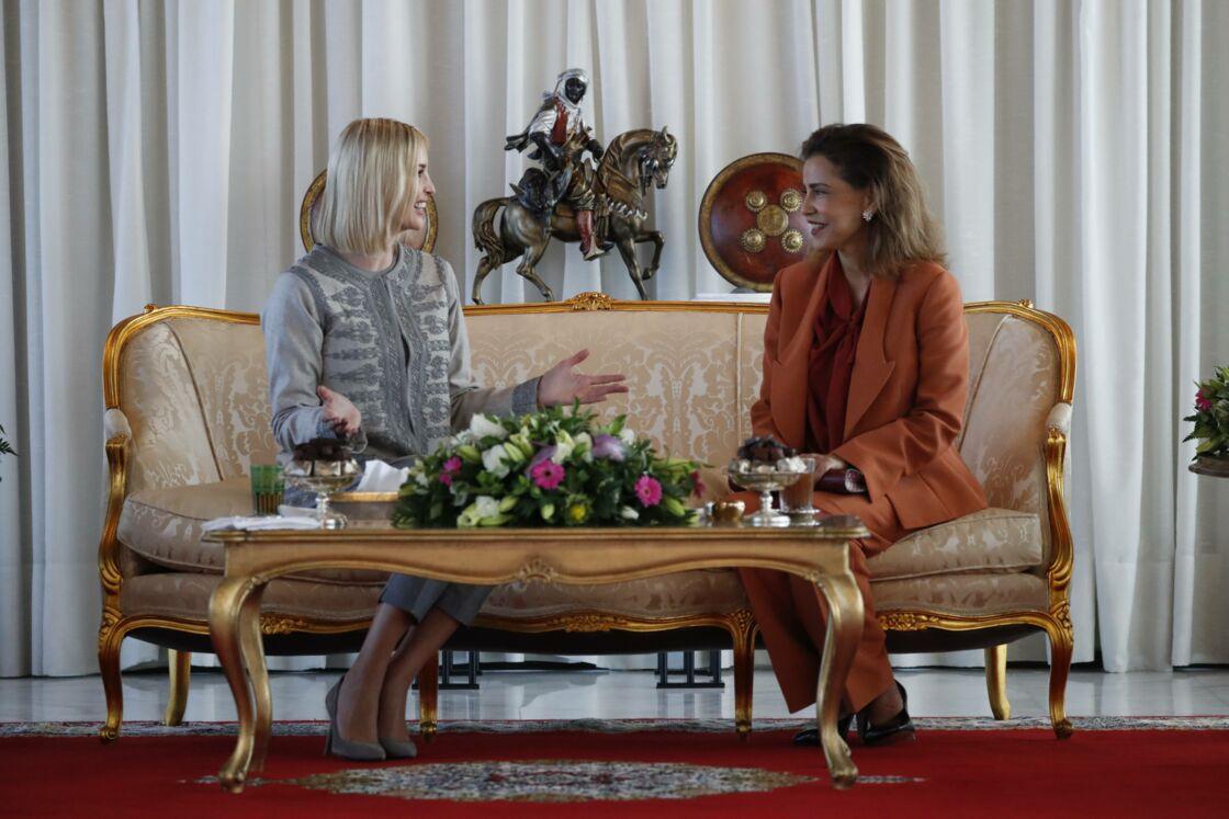 Ivanka Trump et Lalla Meryem s'entretenant à Rabat, le 6 novembre 2019.