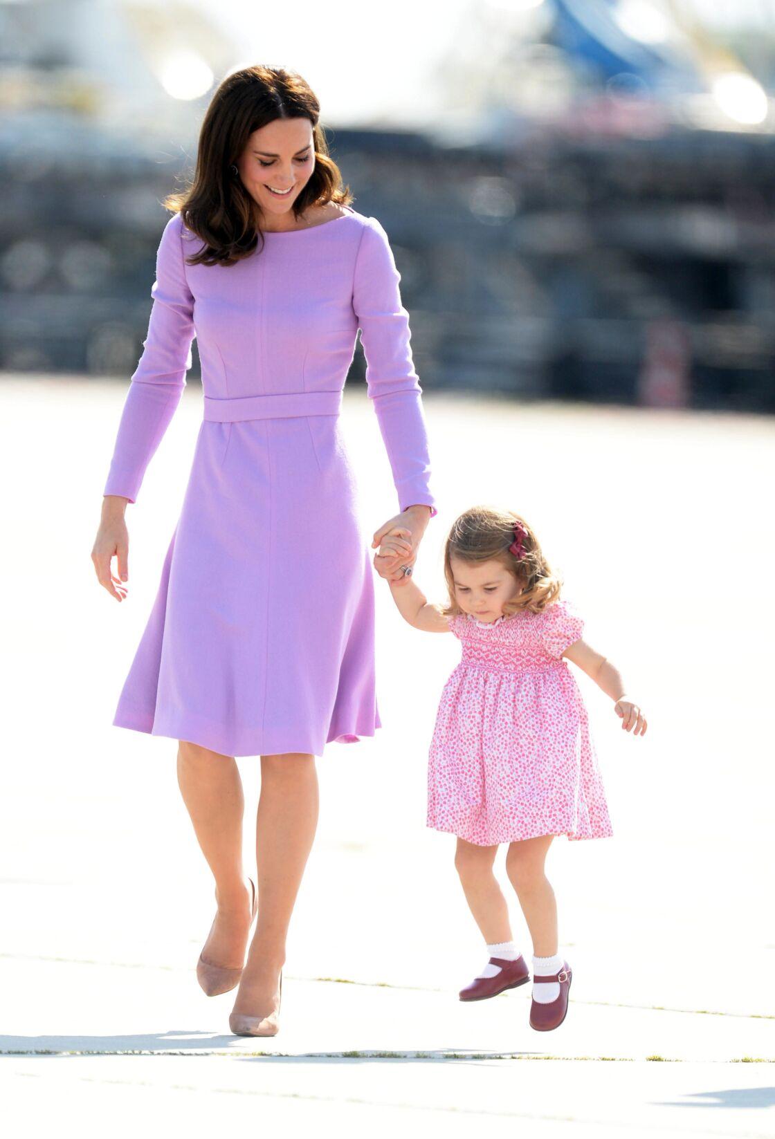 Kate Middleton et la princesse Charlotte en Allemagne, en 2017