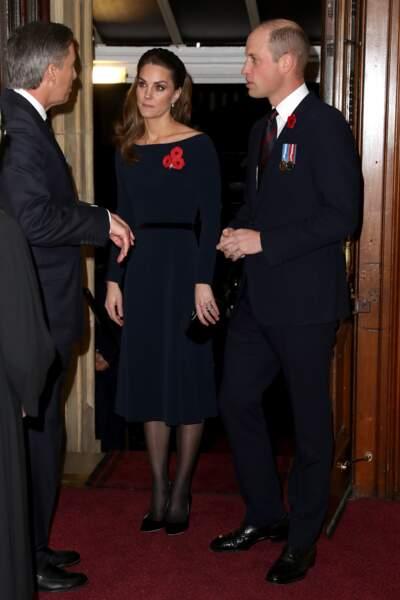 Kate Middleton et le prince William arrivent à la cérémonie du Remembrance Day