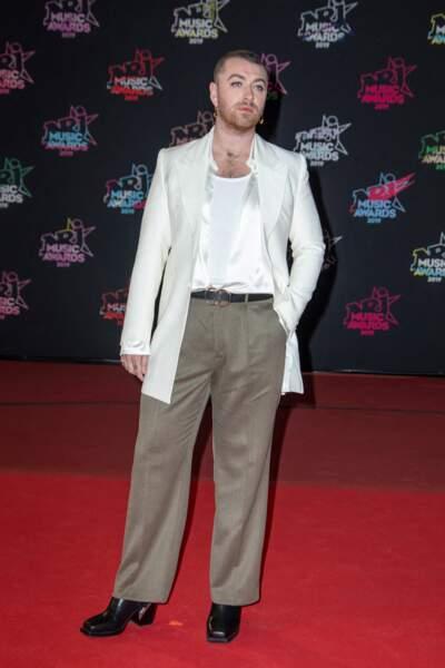 Sam Smith sur le tapis rouge aux NRJ Music Awards 2019