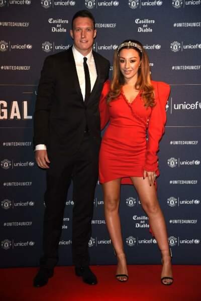 Kaya Hall, la femme de Phil Jones lors du dîner caritatif organisé par le club de foot Manchester United