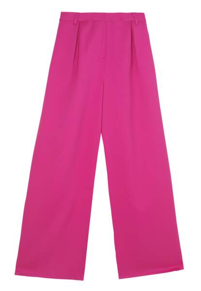 Pantalon large rose, prix sur demande, Amazon Fashion x Leonie Hanne.
