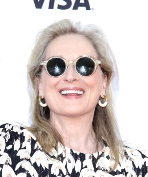 Meryl Streep lors du Festival du film à Toronto en 2019. Des cheveux au menton en passant par le nez pointu, la ressemblance est saisissante.