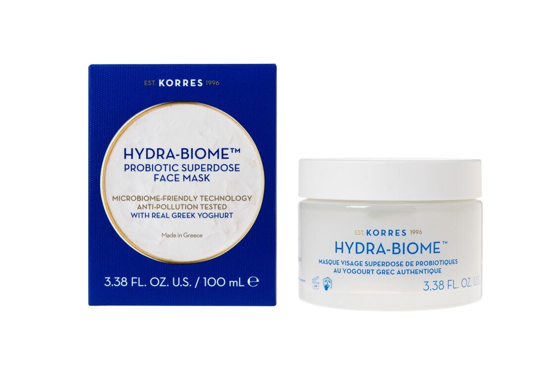 Masque Visage Hydra Biome, Korres, 34,90 €