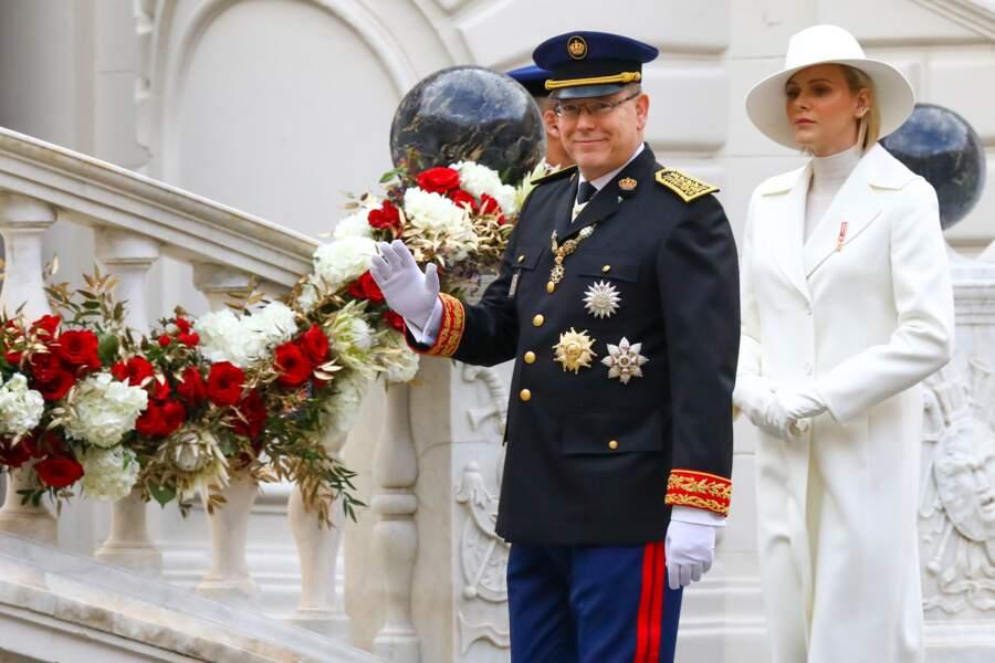 Et surtout le prince Albert II de Monaco qui semble aux anges
