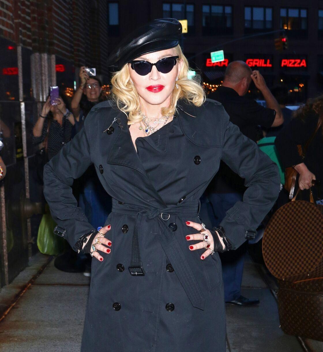 Madonna arrive à l'émission