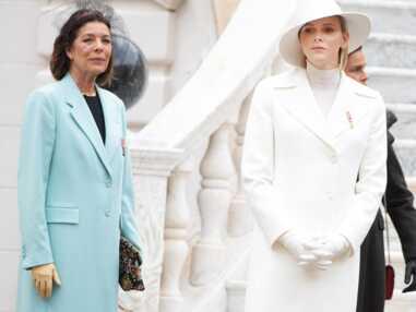 PHOTOS - Charlene de Monaco impériale en total look blanc lors de la fête nationale monégasque.