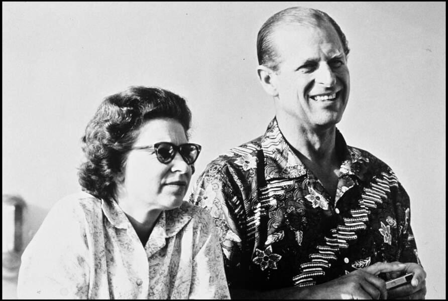 Dans les année 70, la Reine Elizabeth et le Prince Philip pouvaient prendre quelques moments de détentes également.