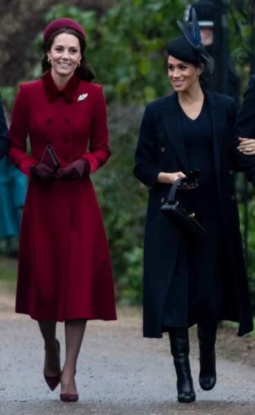 Meghan Markle a porté ces bottes Victoria Bekcham pour Noël en 2018.