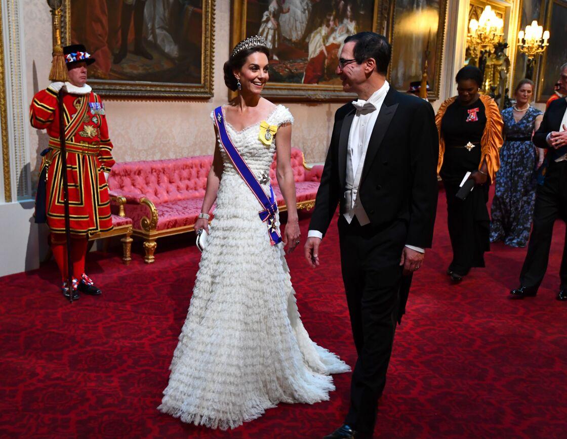 Kate Middleton lors du dîner organisé par la reine pour le couple Trump, à Buckingham Palace, le 3 juin 2019.