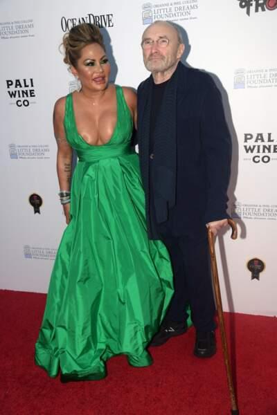Phil Collins et sa femme Orianne lors du 4 ème gala de la fondation Little Dreams en 2018.