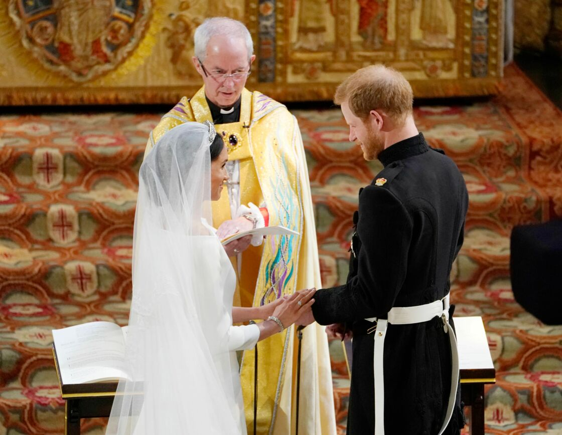 Justin Welby marie Meghan Markle et le prince Harry, le 19 mai 2018.