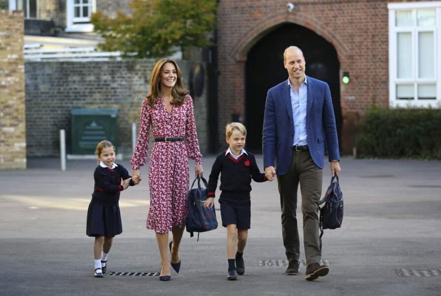 L'entrée en maternelle de la princesse Charlotte, à Londres, le 5 septembre 2019.