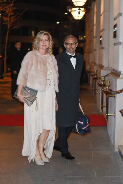 Paul Belmondo et sa femme, Luana Belmondo étaient présents pour la 25e édition du bal des débutantes à l'hôtel Peninsula, et soutenir leur fils, Victor Belmondo.
