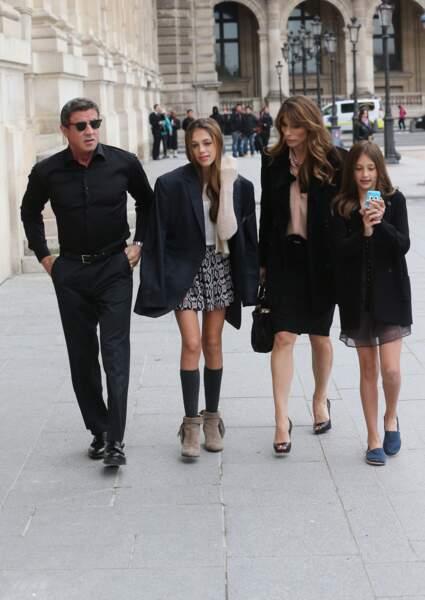 Le 22 novembre 2012, toute la famille Stallone était présente à Paris pour le bal des débutantes. C'est leur fille ainée, Sophia Rose, qui avait fait son entrée dans le 'monde'.