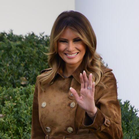 PHOTOS – Melania Trump: découvrez le prix de son sublime manteau en daim