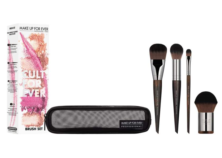 "Kit à pinceaux ""Cult for ever"", Make up Forever, 59€ chez Sephora"