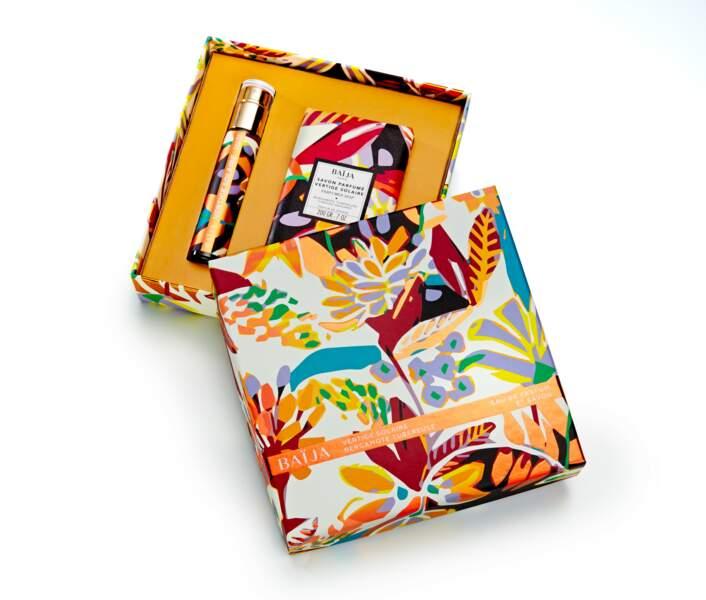 """Coffret """"Vertige solaire"""" contenant eau de parfum + savon, Baïja, 24,90€"""