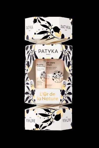 Crackers de soins crème mains + baume à lèvres Patyka, 19,80€