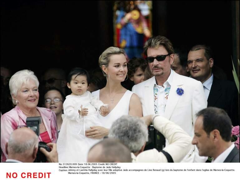 Bapteme de Jade Hallyday à Marnes-la-Coquette le 18 juin 2005.
