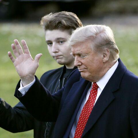 PHOTOS – Barron Trump, un géant de 13 ans: le fils de Melania et Donald a encore grandi!