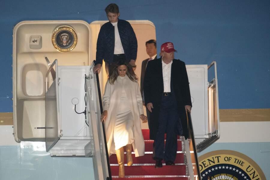 Dimanche 1er décembre, Melania et Donald Trump sont revenus de Floride à Washington