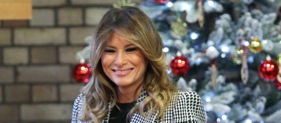 PHOTOS – Melania Trump en manteau tendance Alexander McQueen, ce petit clin d'œil à Kate Middleton