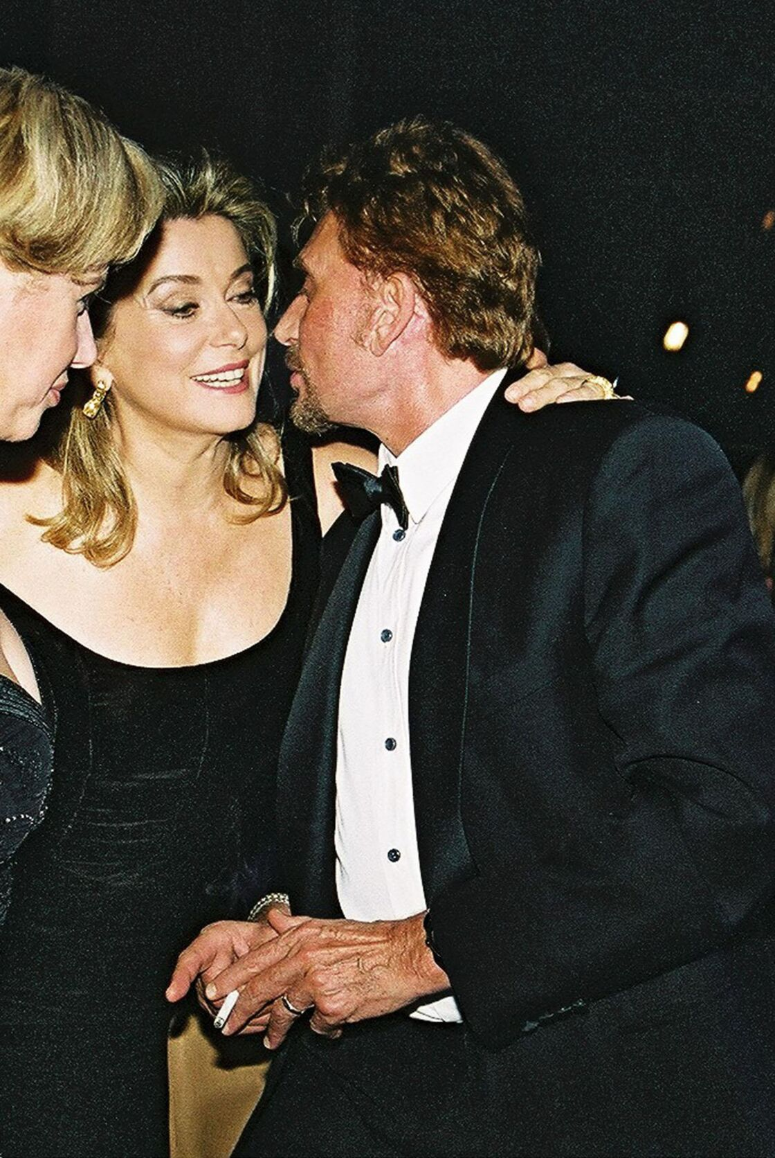 Catherine Deneuve et Johnny Hallyday au gala annuel au profit de la Fondation Children of Africa au Palais de Chaillot, en 2001.