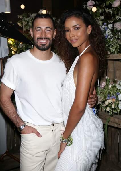 Flora Coquerel, Miss France 2014 et son compagnon Ugo Ciulla. Les deux amoureux sont ensemble depuis quelques années déjà. Ugo Ciulla est danseur professionnel.