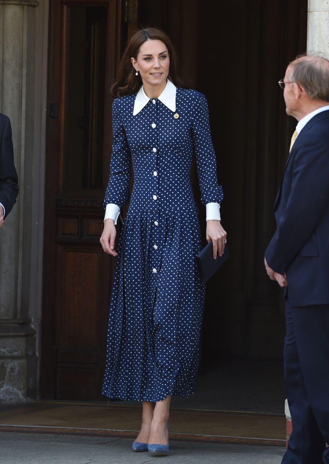 Kate Middleton, le 14 mai dernier, au Bletchley Park pour assister à l'inauguration d'une exposition liée au 75ème anniversaire du débarquement.